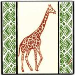 African Giraffe Tile Hand Painted by Besheer Art Tile