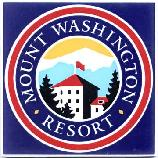 Ceramic trivet showing Mount Washington Resort Hotel in New Hampshire, by Besheer Art Tile