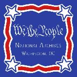 This Hand Painted Besheer Art Tile is custom made for the Gift Shop at the National Archives, Washington, DC. For other of our Patriotic Tiles click on the page link titled: Patriotic & More