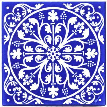 Rt 1 Renaissance Tile Hand Painted At The