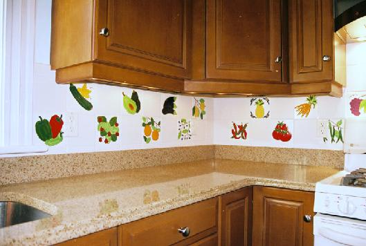 Perfect FRUIT TILES And VEGETABLE TILES KITCHEN BACKSPLASH COMBINED WITH DALTILE  WHITE BACKGROUND TILES Part 6